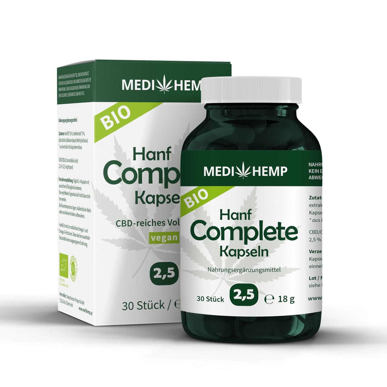 Medihemp Bio Hanf Complete Kapseln - 2,5% - CBD Aroma