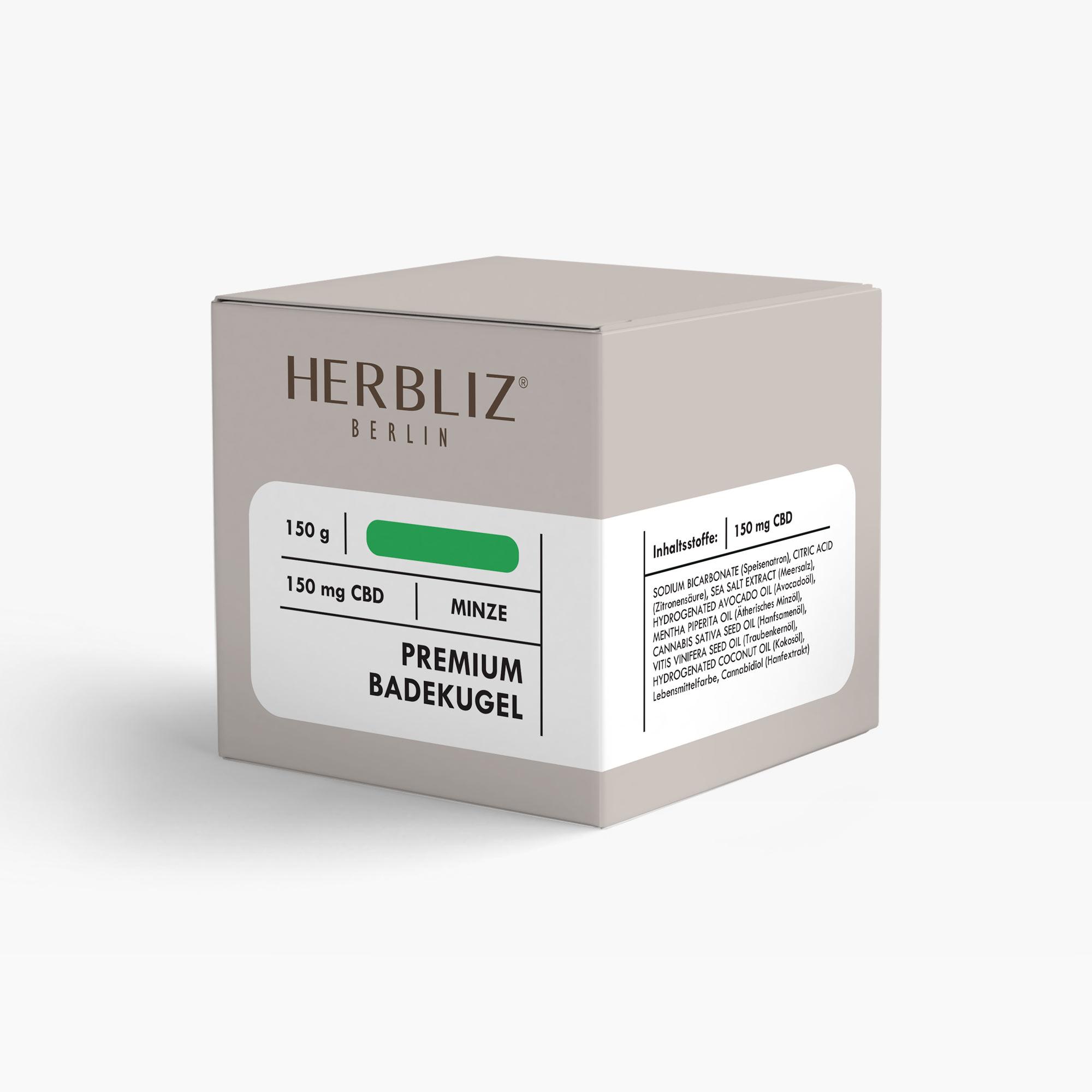 HERBLIZ CBD Badekugel - Minze