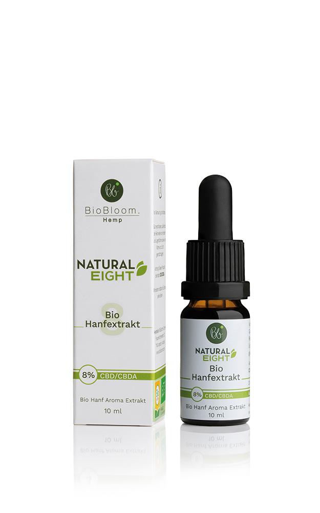 BioBloom Bio Hanf Öl Natural EIGHT – 10ml – 8% CBD Aromaöl