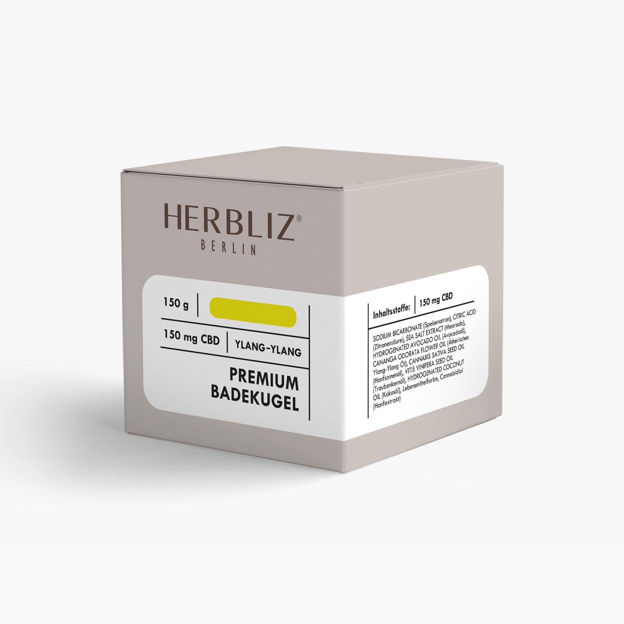 HERBLIZ CBD Badekugel - Ylang-Ylang