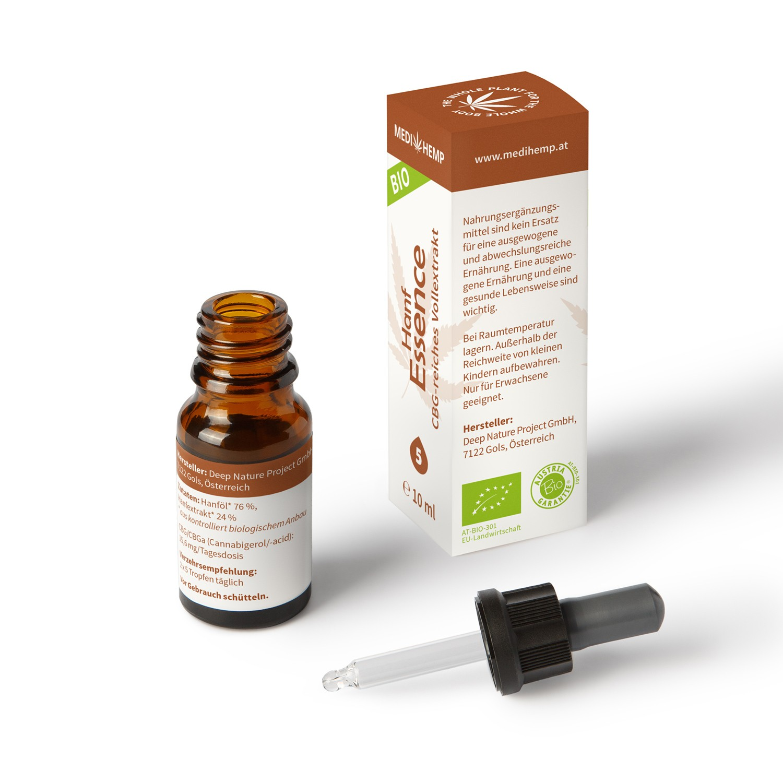 Medihemp Bio Hanf Essence Vollspektrum CBG Öl Aroma - 5 % - 10ml