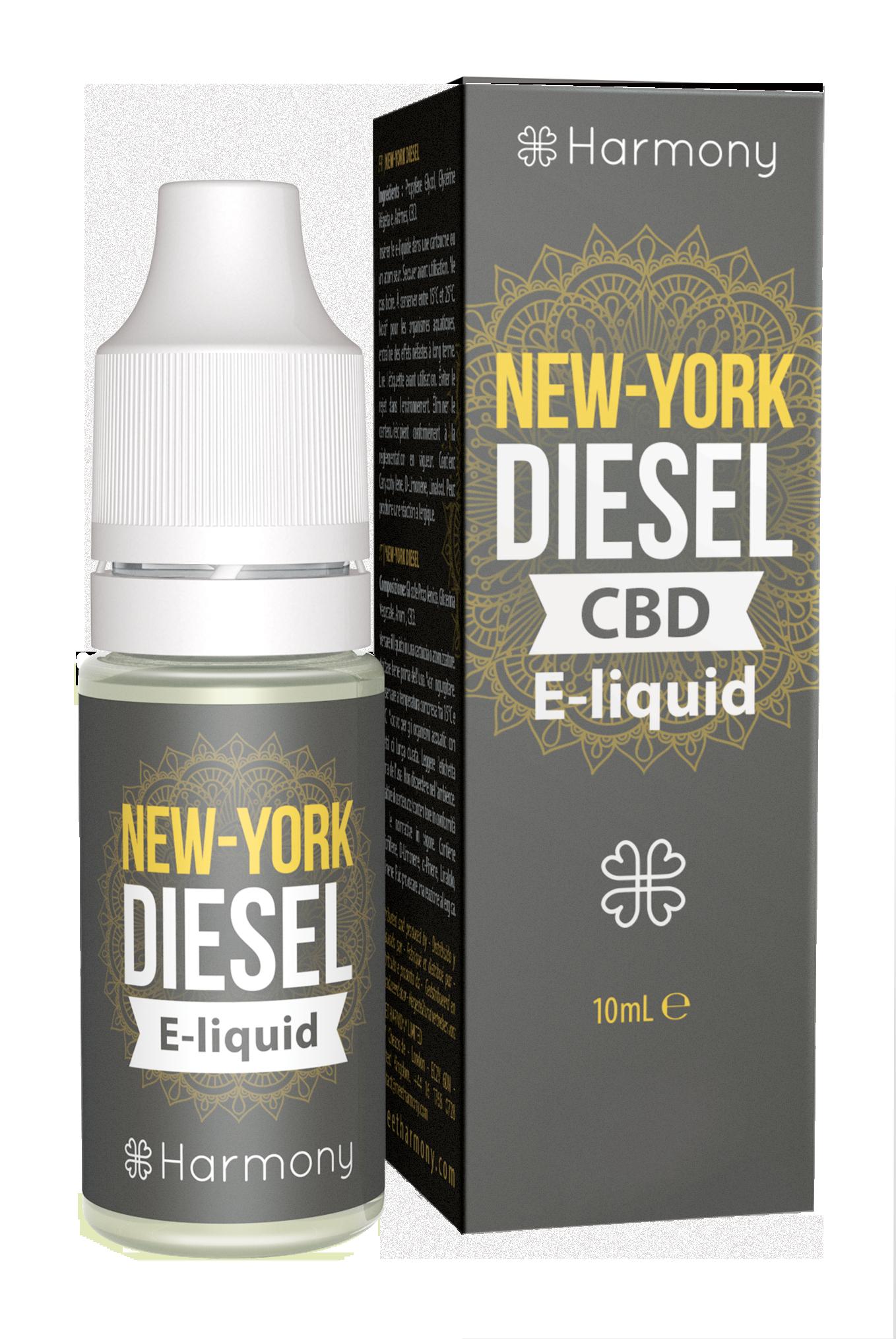Harmony CBD E-Liquid - 30mg CBD - Geschmackssorte N.Y. Diesel - 10ml