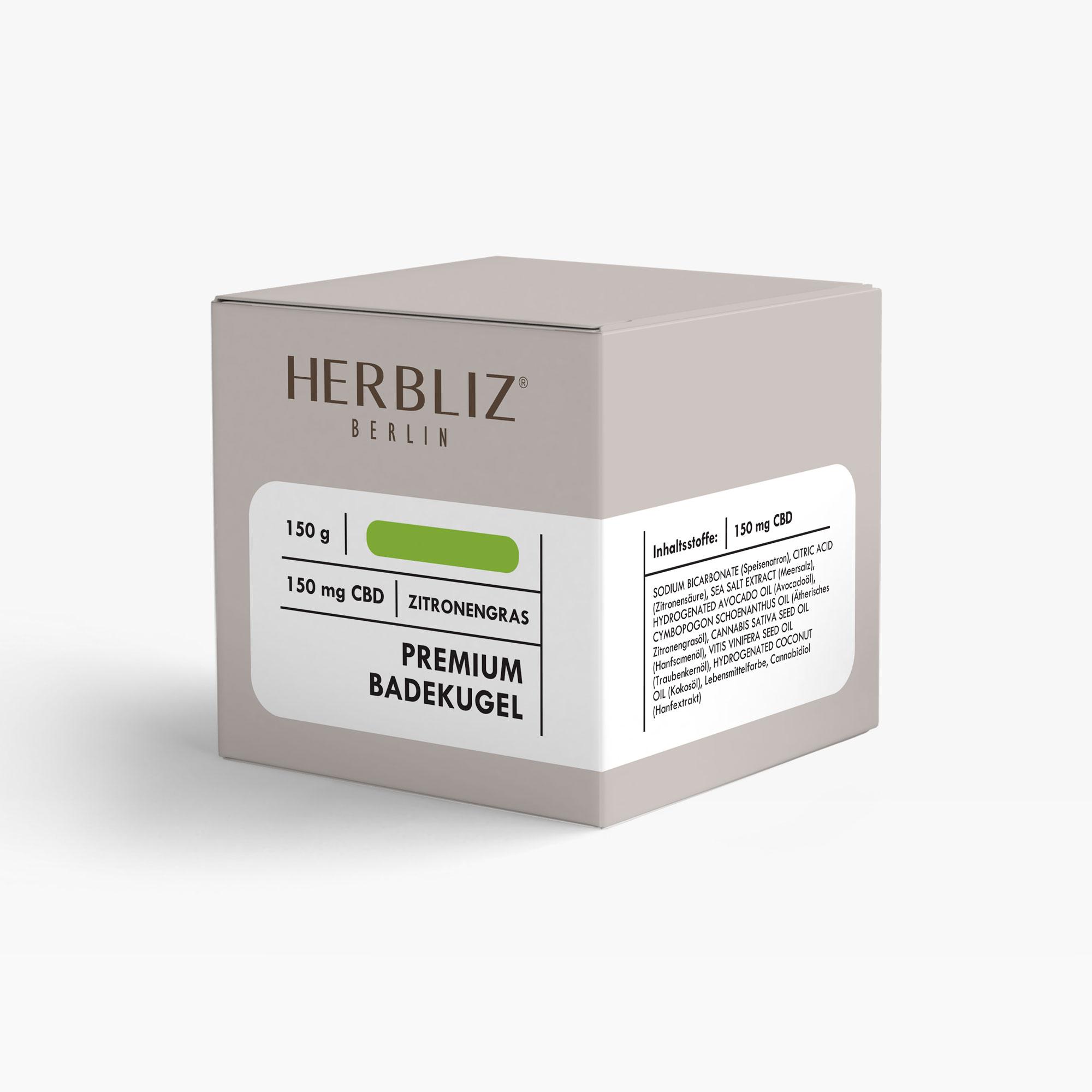 HERBLIZ CBD Badekugel - Zitronengras