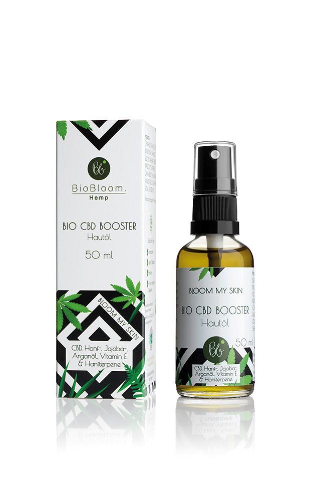 BioBloom Bio CBD Aroma Booster für die Haut inkl. sparsame Sprayflasche 50ml
