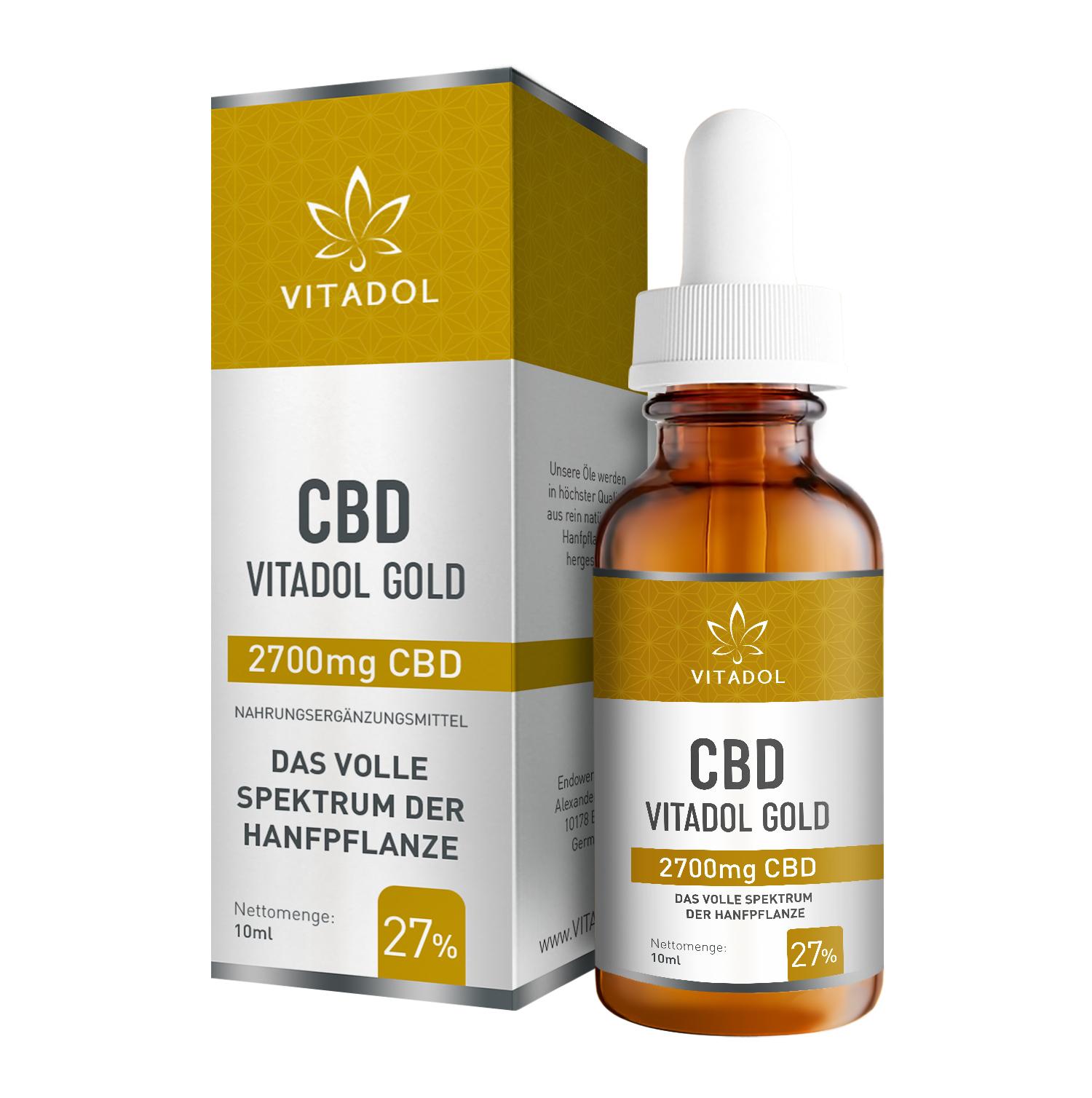 Vitadol Gold 27 % - Bio - Vegan – 10ml
