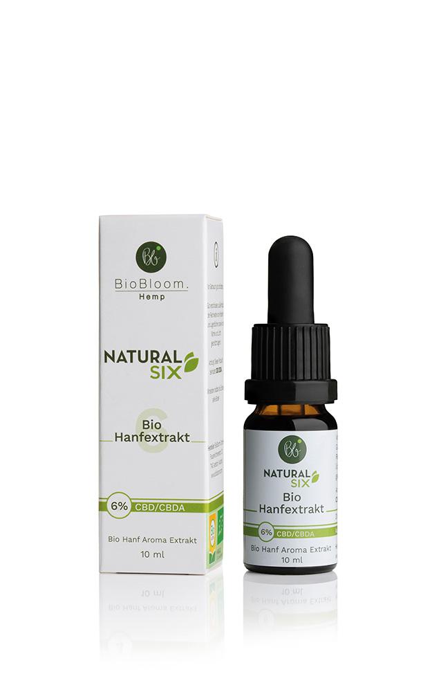 BioBloom Bio Hanf Öl Natural SIX – 10ml – 6% CBD Aromaöl