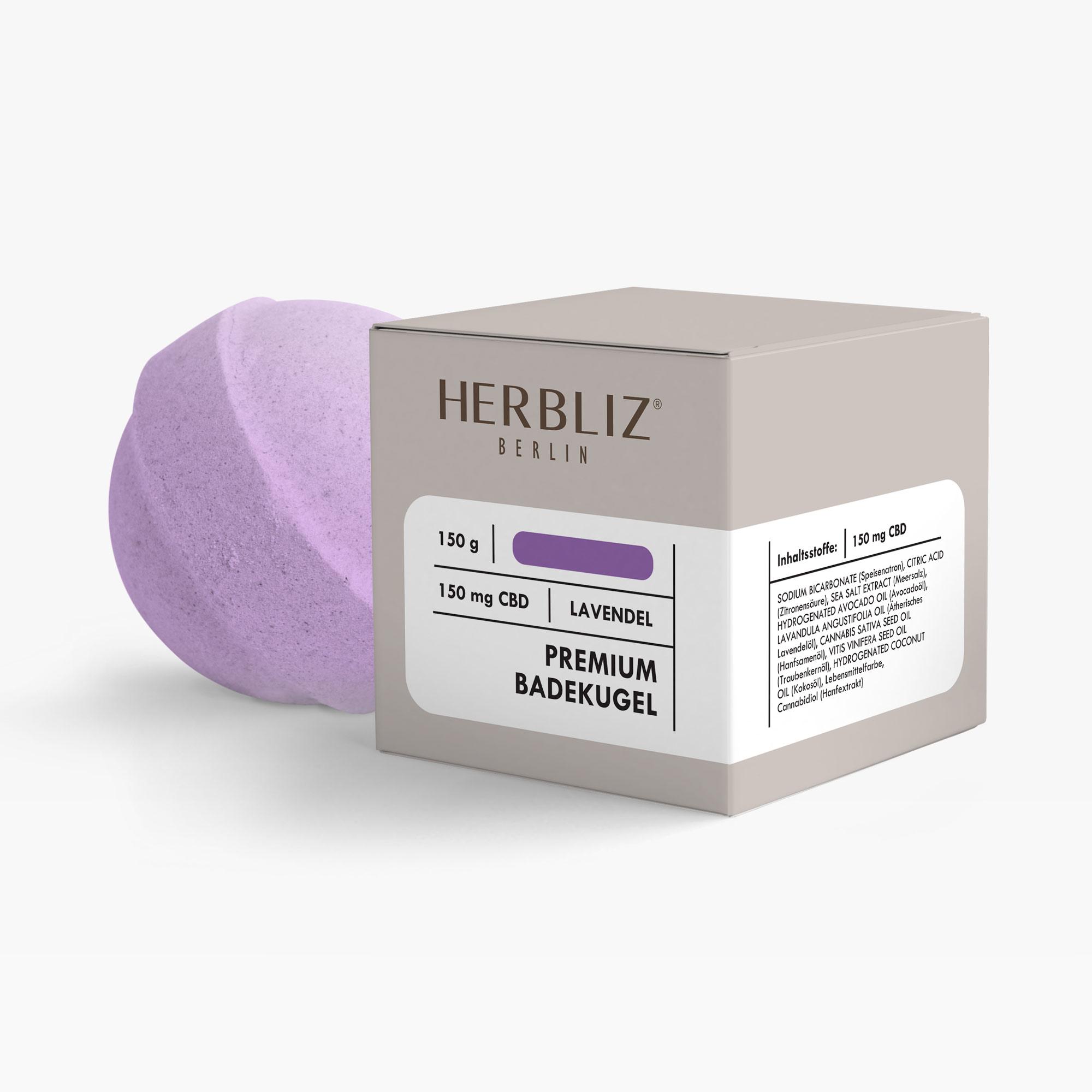 HERBLIZ CBD Badekugel - Lavendel